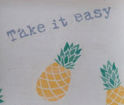 Geschenk – Tablett mit Ananasmotiv