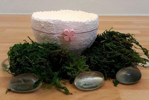 Kerzenschalen aus Gipsbinden – Dekoration für Feste