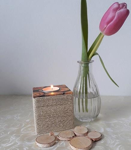 Ein Würfel für ein Teelicht – Dekoration für Feste
