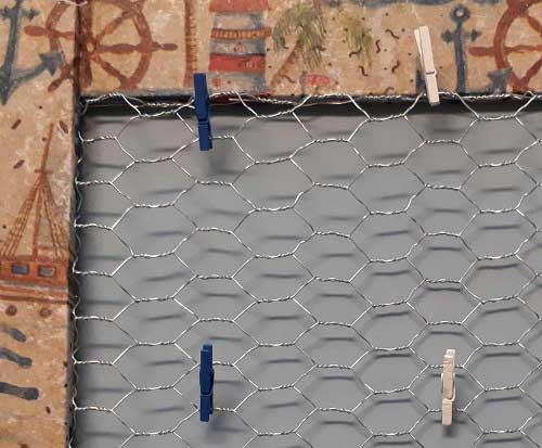DIY Pinnwand mit Draht