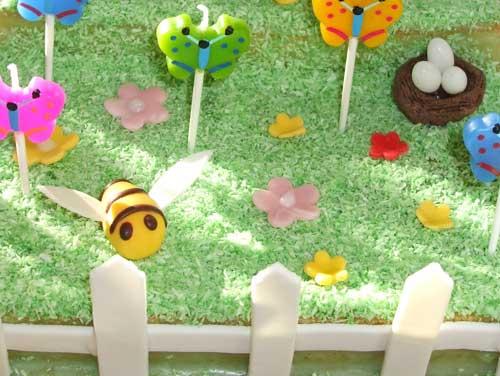 DIY Idee Motivkuchen Blumenwiese