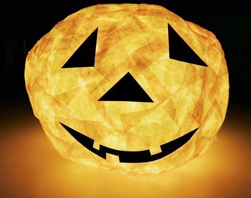 DIY Lampion: Halloween-Kürbis